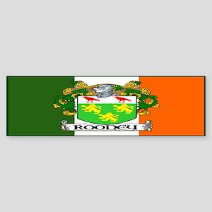 Rooney Arms Flag Bumper Sticker