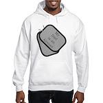 My Dad is an Airman dog tag Hooded Sweatshirt