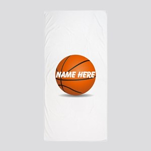 Personalized Basketball Ball Beach Towel
