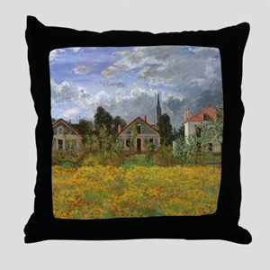 Houses at Argenteuil by Claude Monet Throw Pillow