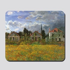 Houses at Argenteuil by Claude Monet Mousepad