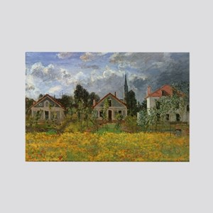 Houses at Argenteuil by Claude Mo Rectangle Magnet