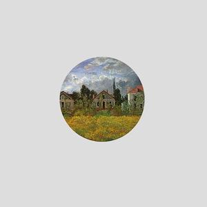 Houses at Argenteuil by Claude Monet Mini Button