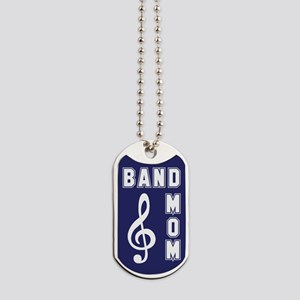 Band Mom Blue & White Dog Tags