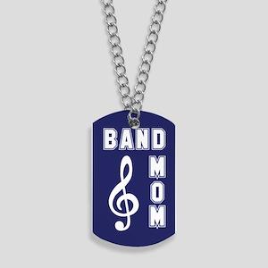 Band Mom Blue & White Dog Tags