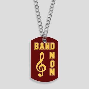 Band Mom Maroon & Gold Dog Tags