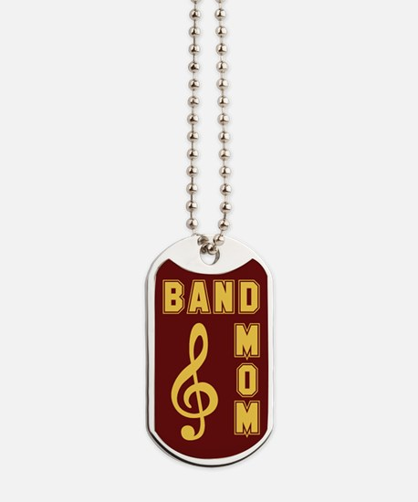 Band Mom Maroon & Gold Dog Tags