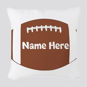 Personalized Football Ball Woven Throw Pillow