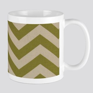 Military Green Zigzags Mug