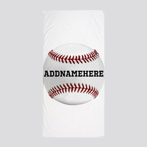 Personalized Baseball Red/White Beach Towel