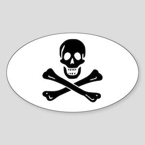 Skull Crossbones Sticker