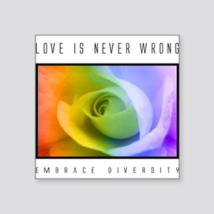 Diversity Rectangle Sticker