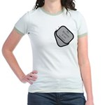 My Mommy is an Airman dog tag Jr. Ringer T-Shirt