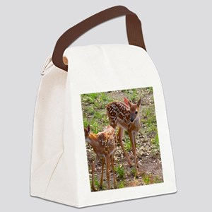 Deer Twins Canvas Lunch Bag