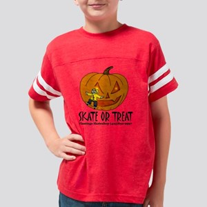 skate or treat shirt pumpkin  Youth Football Shirt