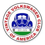 Vvwca Logo Round Car Magnet