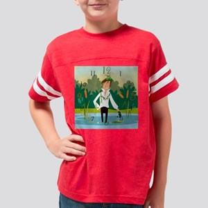 clock_darcy_pond Youth Football Shirt