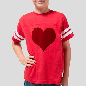 Heart Design Youth Football Shirt