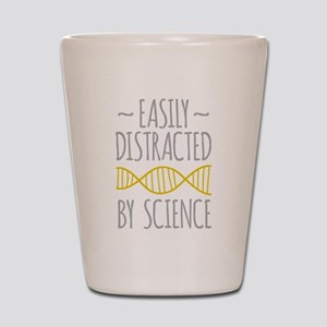 Distracted by Science Shot Glass