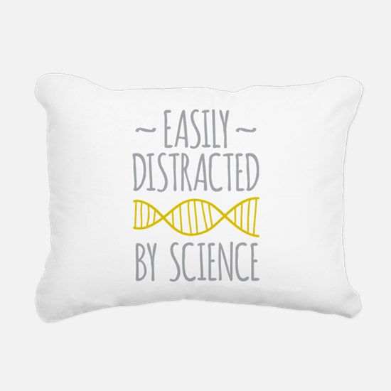 Distracted by Science Rectangular Canvas Pillow