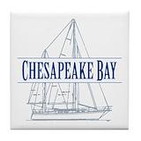 Chesapeake bay Tile Coasters