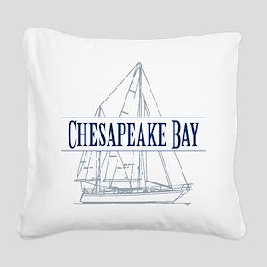 Chesapeake Bay - Square Canvas Pillow