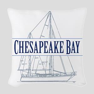 Chesapeake Bay - Woven Throw Pillow