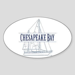 Chesapeake Bay - Sticker (Oval)