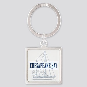 Chesapeake Bay - Square Keychain