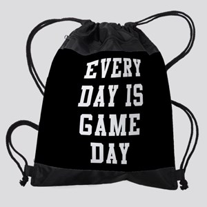 Every Day Is Game Day Drawstring Bag