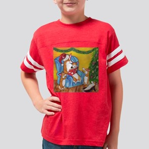A Christmas Corgi Story Youth Football Shirt