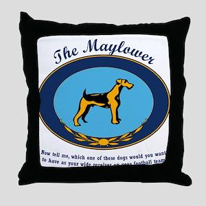 The Mayflower Dog Show Throw Pillow