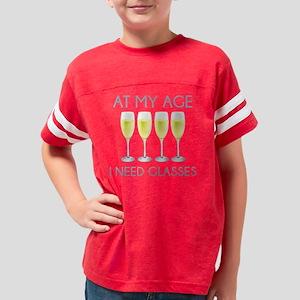 MyAgeNeedGlasses2B Youth Football Shirt