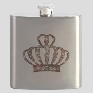 """Gold Tiara"" Flask"
