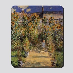 Artist's Garden at Vetheuil by Claude Mo Mousepad