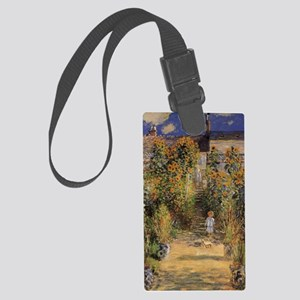 Artist's Garden at Vetheuil by C Large Luggage Tag
