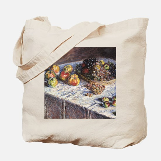 Still Life with Apples and Grapes by Clau Tote Bag