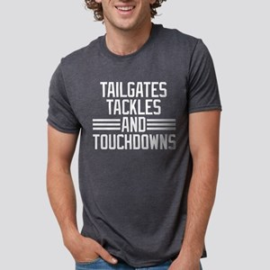 Tailgates Tackles And Touch Mens Tri-blend T-Shirt