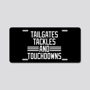Tailgates Tackles And Touch Aluminum License Plate