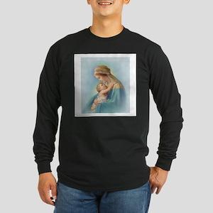 Mary and Jesus Long Sleeve Dark T-Shirt