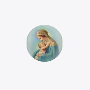 Mary and Jesus Mini Button
