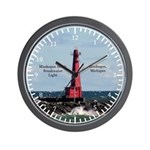 Muskegon South Breakwater Wall Clock