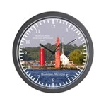 Muskegon Entrance Lights Wall Clock