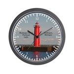 Muskegon South Pierhead Wall Clock