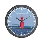 Algoma Pierhead Light Wall Clock