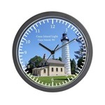 Cana Island Light Wall Clock