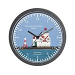 Kewaunee Pierhead Lights Wall Clock