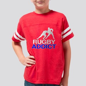 RugbyAddictBlack copy Youth Football Shirt