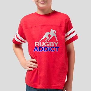 2-RugbyAddictBlack copy Youth Football Shirt