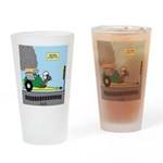 Turtle Dragster Drinking Glass